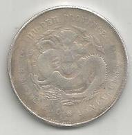 Cina, 1895-1905, Hupeh, 50 C., Weight 11,20 Gr. - Cina