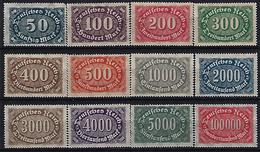 Germany 1922-23 (**) MNH  Mi.246-257 - Allemagne
