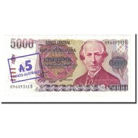 Billet, Argentine, 5 Australes, Undated (1985), KM:321, NEUF - Argentina