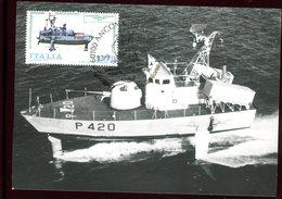 Italie - Carte Maximum 1977 - Bateau - Maximumkarten (MC)