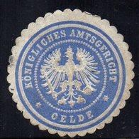 SIEGELMARKE GERMANY, OELDE - KÖNIGLICH AMTSGERICHT - Fantasy Labels