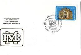 Argentina FDC Centenario Banco Di Mendoza - FDC