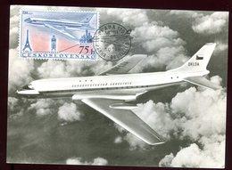 Tchécoslovaquie - Carte Maximum 1958 - Avion - Tchécoslovaquie
