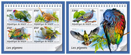 NIGER 2018 - Pigeons, M/S + S/S. Official Issue - Niger (1960-...)
