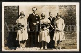 Photo Postcard / Foto / Old Photo / Wedding / Mariage / Size: 8.90 X 13.80 Cm. / England - Photographie
