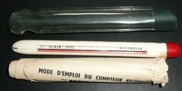 Ancien MEILOGRAPH Compteur Kilométrique Avec Boussole, Notice Et étui Pour Carte - Sciences & Technique