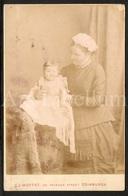 Cabinet Photo / Cabinet Card / Woman / Femme / Baby / Bébé / Photographer J. Moffat  / Edinburgh / Scotland / 2 Scans - Anciennes (Av. 1900)