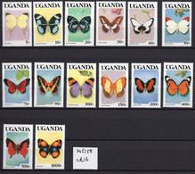 1988 - UGANDA- Mi. Nr. 709/721 + 833 - NH - (UP121.12) - Uganda (1962-...)