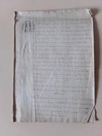 Acte Notarié Du 2 Novembre 1865 à L'épange ?? Vosges , Vente - Manuscrits