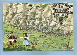 La Route Du Vin D'Alsace 2 Scans Tonneau Alsacienne Strasbourg Sélestat Colmar Mulhouse - Alsace