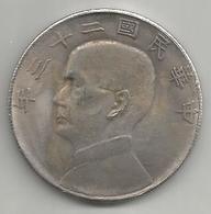 Cina, Repubblica, 1933, Dollar Sun Yat Sen, Weight Gr. 20,46. - Cina