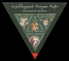 Georgia 2018 Mih. 719/22 (Bl.81) Fauna. Red Book Of Georgia. Protected Animals MNH ** - Géorgie