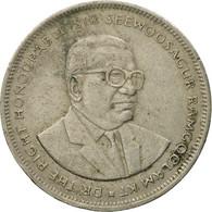 Monnaie, Mauritius, 5 Rupees, 1992, TB+, Copper-nickel, KM:56 - Mauritius