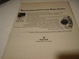 PUBLICITE AFFICHE MONTRE ROLEX OYSTER BLINDEE ETANCHE  1966 - Jewels & Clocks