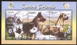 Ouganda Uganda Oeganda 2001 Yvertn° 2002-2007 *** MNH Cote 21 Euro Faune Chiens Honden Dogs - Ouganda (1962-...)
