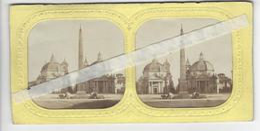 PHOTO STEREO Circa 1865 SURPRISE SYSTEME BALLON DIRIGEABLE VISIBLE A LA LUMIERE /FREE SHIPPING R - Stereoscopic