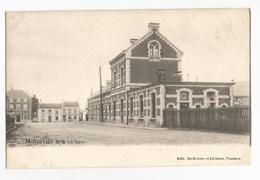 Moustier Sur Sambre La Gare Carte Postale Ancienne Jemeppe-sur-Sambre - Jemeppe-sur-Sambre