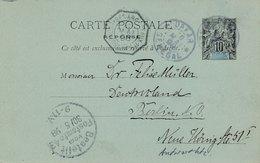 Entier Dakar Senegal Martime Buenos Aires A Bordeaux Pour Berlin - Sénégal (1887-1944)