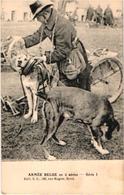 3 CPA PREAUX FRERES, éd S.D.  Hondenkar, Attelage De Chiens Flamand, Hund, Dog -  Mitrailleuse à Traction Canine - Honden