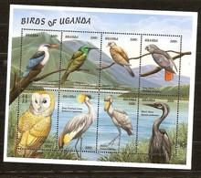 Ouganda Uganda Oeganda 1999 Yvertn° 1763-1770 *** MNH Cote 12 Euro Faune Oiseaux Vogels Birds - Ouganda (1962-...)