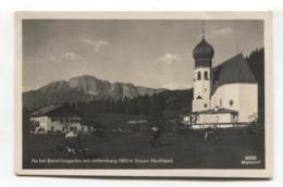 Au Bei Berchtesgaden Mit Untersberg 1801 M Bayer. Hochland - 1931 Used Postcard - Berchtesgaden