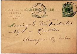 """!! Meeuwen """" 1885 - P.J. Indekeu - Brouwer - Bestelling Van Hop - Houblon - Meeuwen-Gruitrode"""