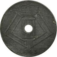 Monnaie, Belgique, 10 Centimes, 1943, TB+, Zinc, KM:125 - 02. 10 Centimes