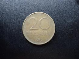 RÉPUBLIQUE DÉMOCRATIQUE ALLEMANDE : 20 PFENNIG   1983 A   KM 11     TTB - [ 6] 1949-1990 : GDR - German Dem. Rep.