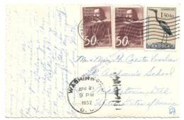 ANGOLA (Portugal) - 1952 PPC DIPLOMATIC POUCH MAIL - Washington, D.C. To Middletown, Delaware - Real Photo - Angola
