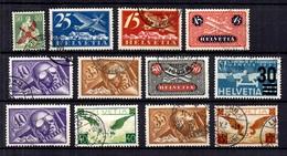 Suisse Belle Petite Collection De Poste Aérienne Oblitérés 1919/1932. Bonnes Valeurs. B/TB. A Saisir! - Airmail