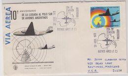 Argentina 1973 10th Ann. De La Llegada Al Polo Sur De Aviones Argentinos 1v FDC (40090) - FDC