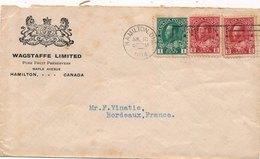 Lettre Canada Hamilton Pour La France Cover - 1911-1935 Règne De George V