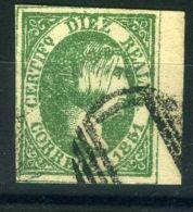 """ESPAGNE  ( POSTE ) : Y&T  N°  11   """"  FAUX  """"  TIMBRE  OBLITERE . - 1850-68 Koninkrijk: Isabella II"""