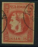 ROUMANIE  ( POSTE ) : Y&T  N°  20   TIMBRE   OBLITERE . - 1858-1880 Moldavie & Principauté