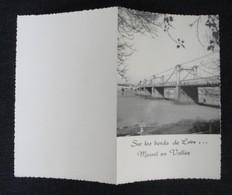 Ancien Menu? Papier Rigide Dentelé Sur Le Pourtour: Sur Les Bords De Loire Mesnil En Vallée(pont D'Ingrandes) - Menus