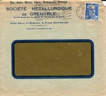 France Société Métallurgique De Grenoble 15 12 1954 Perforé SM Sur Gandon (perfin) - Perforés