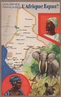 CARTE  PUBLICITE D  AFRIQUZ ZQUATORIALE FRANCAISE  EDITION DU LION NOIR ATTENTION PAS  CPA MAIS FORMAT - Postcards