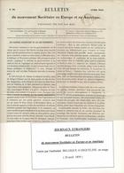 """Cachet D'Entrée Par AMBULANT """" BELG. A ERQUELINES A 22/4/59 """" Sur Bulletin / Journal Entier Belgique - Marques D'entrées"""