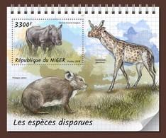 Niger 2018, Animals, Extincted Animals, Rhino, Roditors, BF - Rhinozerosse