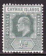 Cayman Islands 1907 Edward VII Single ½d Green Definitive Stamp. - Cayman Islands