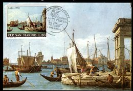 Saint Marin - Carte Maximum 1971  - Oeuvre De Canaletto - Lettres & Documents
