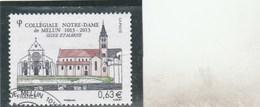 FRANCE 2013 COLLEGIALE NOTRE DAME DE MELUN YT 4743 OBLITERE    -                               TDA24A - France