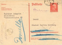29640. Entero Postal BIELEFELD (Alemania Reich) 1928. RETOUR. Devuelto - Germany