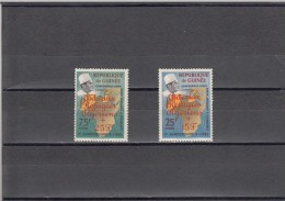 Republica De Guinea Nº 120 Al 121 Con Charnela - Guinée (1958-...)