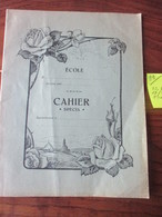 CAHIER D' ÉCOLIER - Neuf  - CAHIER  *SPECIA* - Je Pense Pour La Musique.!  - Couverture Vert/gris  -  4 Photos. - Autres Collections