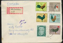 DDR R-Brief Michel 2027 2394-2399 Einschreiben, 2 Bilder, Tauschsendung Philatelistenverband, Geflügelrassen, Schweitzer - DDR