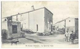 Cpa St Annès - Le Quartier Haut - France