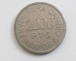 RECREATIVOS FRANCO 2000 PESETAS - Espagne