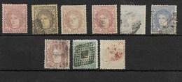 España. Conjunto De 9 Sellos Diferentes Del Gobierno Provisional - 1868-70 Provisional Government