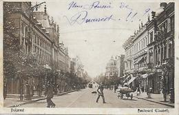 Romania - Roumanie - BUCAREST - BUKAREST - BOULEVARD ELISABETH ANIME 1919 - Roumanie